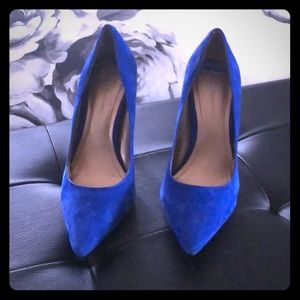 Electric blue high heels